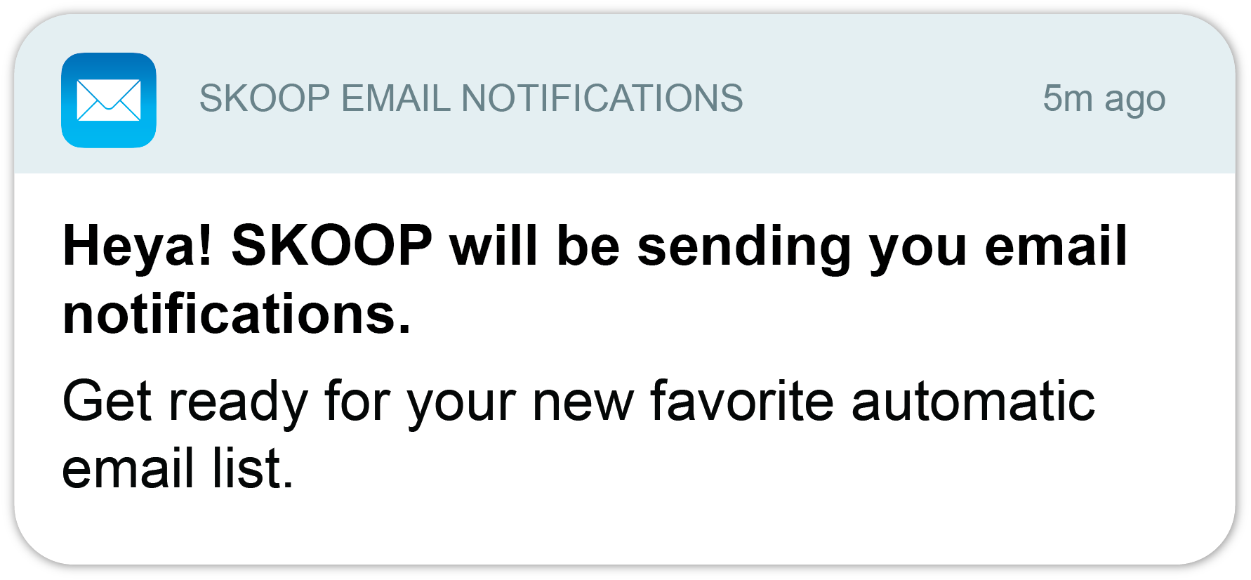 Get notified by email from your SKOOP Signage portal